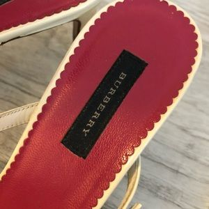 Burberry Shoes - Burberry Patent Leather Strap Slide Sandals